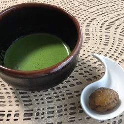 マロングラッセと抹茶.JPG
